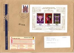 (A+B-Z) BRD Großformatiger Einschreib-Brief  Interessante MiF BRD  TSt. 9.11.1998 BERLIN - Covers & Documents