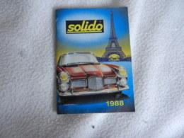CATALOGUE SOLIDO 1988 - Publicités