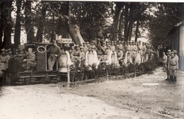 """AVIGNON 7 EME REGIMENT DU GENIE PENDANT LES FETES 1934 1935 """"PETIT TRAIN  """" - Avignon"""