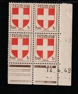 Coin Daté 836 ** 14/4/49 - 1940-1949