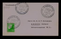 Deutiche Luftpoft  Dingolfing (postal Document) OX- LABOURAGE 1937 AGRICULTURE Seed-sowering Grains Sp6437 - Agriculture