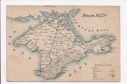 CP RUSSIE Carte Geographique - Russie