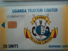 UGANDA USED CARDS ANIMALS BIRDS ARMS SYMBOL  BIRDS - Ouganda