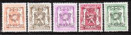 PRE599/603*  Petit Sceau De L'Etat - Année 1950 - Série Complète - MH* - LOOK!!!! - Typo Precancels 1936-51 (Small Seal Of The State)