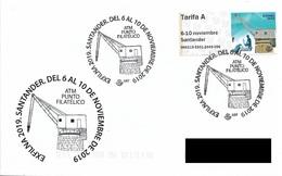 SPAIN. POSTMARK. STONE CRANE. ATM. SANTANDER 2019 - Spagna