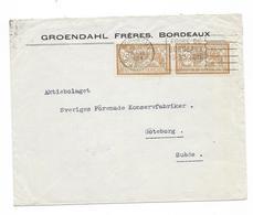 Lettre France 1924 Bordeaux To Suede - Storia Postale
