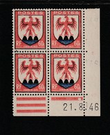 Coin Daté 755 **  21/8//46 - 1940-1949