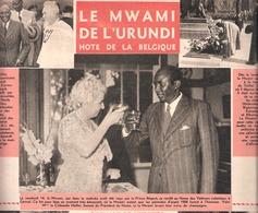 """Le Mwami De L'Urundi (Burundi) Hôte De La Belgique-Papeteries De Genval-1 Page-revue """"Le Soir Illustré"""" Du 20-7-1950 - Histoire"""