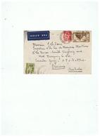 LETTRE AVION DEPART ENGHIEN LES BAINS (FRANCE) Pour BRISTONNE AUSTRALIE 1937 - Marcophilie
