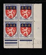 Coin Daté 572 **  23/4/43 - 1940-1949