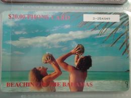 BAHAMAS  USED CARDS  BEACHING - Bahamas