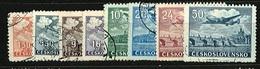 1946 - Michel: 493-500 Yvert: PA 20-27 - Used - Cecoslovacchia
