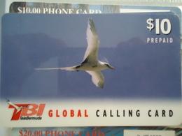 BERMUDA PREPAID  USED CARDS  BIRD BIRDS - Bermudes
