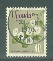 Uganda: 1969/74  Flowers    SG136    40c    Used - Uganda (1962-...)