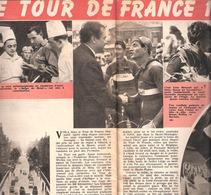 """Le Tour De France 1950-Equipe Nationale Belge-Aiglons Belges-Ockers à Rouen-Line Renaud.. """"Le Soir Illustré""""-2 Pages - Histoire"""