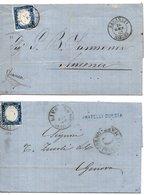 15 Cent. ND Due Tinte Diff. Su Due Lettere (11 Ann.Recanati : P.3 Firmata &11b)   = € 448 - 1861-78 Vittorio Emanuele II