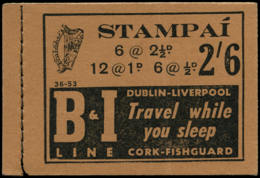 IRLANDE Carnets ** - Sg. SB 9, (S. 36-53), Carnet Complet 2/6: Phare, Chien Lévrier - Ireland