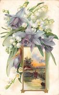 CPA Fantaisie Gaufrée - Fleurs - Muguet - Paysage - Fleurs