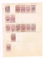 Australie Occidentale.Lot Anciens Timbres Fiscaux à Identifier. - Revenue Stamps