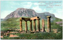 CORINTHE - Temple De Minerve Et Acrocorinthe - Griekenland