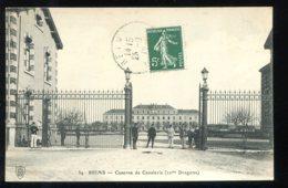 CPA 51 REIMS Caserne De Cavalerie 22ème Dragons Au Dos Pub Pour Ameublements Maison Vincent Rue De Contray - Reims