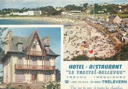 ( TREVOU TREGUIGNEC  )( TRELEVERN ) ( 22 COTES DU NORD ) Hotel Restaurant .bricout Fernand Proprietaire - Autres Communes