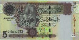 Libya 5 Dinars (P69) Sign 10 -UNC- - Libia