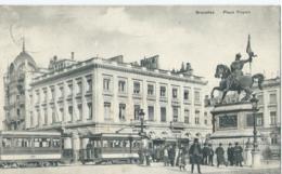 Brussel - Bruxelles - Place Royale - Tram - 1913 - Places, Squares