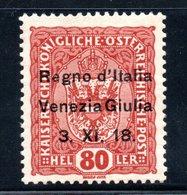 Italie / Vénétie Julienne / N 13 / 80 H Brun / NEUF* / Côte 15 € - 7. Triest