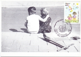 DIRITTO ALL'INFANZIA FILATELICO ROMA  1991 MAXIMUM POST CARD (GENN200279) - Esposizioni Filateliche