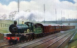 TRENES. THE LEEDS AND BRADFORD EXPRESS. CIRCA 1900. TARJETA POSTAL. - NTVG. - Trenes