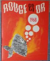 Petit Calendrier De Poche Agenda 1968 Rouge Et Or La Bibliothèque Des Jeunes - Librairie Thouars - Calendriers