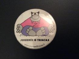 Badge Broche : Philippe Geluck - Le Chat - Journée 0 Tracas - Diamètre 3,5cm - Comics