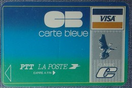 Petit Calendrier De Poche 1986 PTT La Poste Carte Bleue Visa - Format Carte Bleue - Calendars