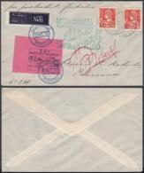 "BELGIQUE COB 336x2+E11 SUR LETTRE  VOL PAR FUSEE ""KAREL ROBERTI"" 04/09/1935 ""JUPITER P.26"" (DD) DC-6174 - Erinnophilie"
