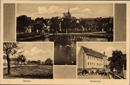 Cp Wyhra Borna Im Kreis Leipzig, Kolonie, Dorfschule, Teichpartie, Kirche - Otros