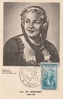 Carte Maximum -Journée Du Timbre 1948   Mme De Graffigny 1695-1758 - France