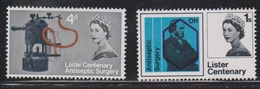 GREAT BRITAIN Scott # 426-7 MH - Lister Centenary - 1952-.... (Elizabeth II)