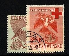 1949 - Michel: 599-600 - Used - Czechoslovakia