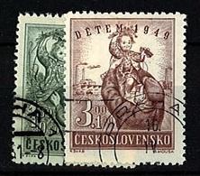 1949 - Michel: 601-602 - Used - Czechoslovakia