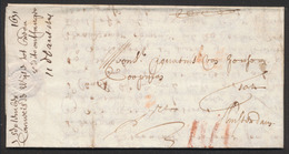 """Précurseur - LAC Datée En 1631 (lieu à Déterminer) + Port """"IIII"""" à La Craie Rouge Vers Amsterdam / A Examiner ! - 1621-1713 (Spanish Netherlands)"""