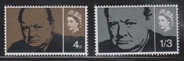 GREAT BRITAIN Scott # 420-1 MH - Sir Winston Churchill - 1952-.... (Elizabeth II)