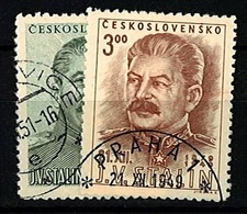 1949 - Michel: 603-604 - Used - Czechoslovakia