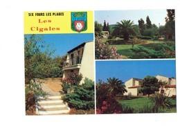 Cpm - 83 - SIX FOURS LES PLAGES - F.O.C.E.P.Y. Vacances LES CIGALES - Blason Coquille St Jacques - Six-Fours-les-Plages