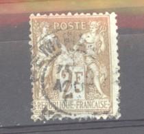 0ob  0496  -  France  :  Yv  105   (o)  N Sous B - 1898-1900 Sage (Type III)