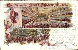 Artiste Cp Halle An Der Saale, Apollo Theater, Sommertheater - Allemagne