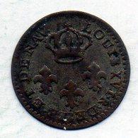 FRENCH GUIANA - COLONIE DE CAYENNE, 2 Sous, Copper, Year 1789-A, KM #1 - Guyana
