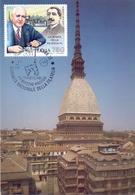 TORINO LA MOLE ANTONELLIANA 1991 MAXIMUM POST CARD (GENN200299) - Esposizioni Filateliche