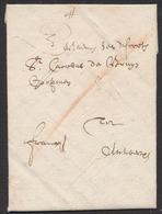 """Précurseur - LAC Datée De Leuven 28/8/1651 + Manuscrit """"Franco"""" Et Port """"I"""" à La Craie Rouge Vers Antwerpen. TB - 1621-1713 (Spanische Niederlande)"""