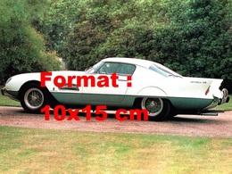 Reproduction D'une Photographie Ancienne D'une Ferrari 410 Superamerica Superfast De Profil De 1956 - Repro's